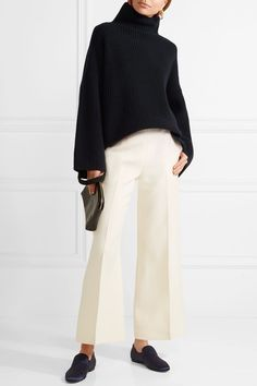 The Row | Violina ribbed cashmere turtleneck sweater | NET-A-PORTER.COM
