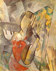 "Pablo Picasso - ""Woman with Mandolin"". 1925"