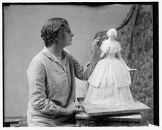 Vicken Von Post Börjesson, born 1886, died 1950, was a Swedish sculptor and illustrator based in Stockholm. illustrated dozens of children's books. Between 1915-21 she was hired by Rörstrands porcelain , where she created about 30 porcelain figurines. She was also active in the United States where she exhibited at The Corcoran Gallery of Art in Washington in 1934.   In 1921, she married George Oakley Totten, Jr., a well-known American architect. Together they had two children.