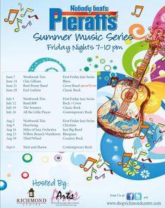 Pieratt's Summer Music Series at The Richmond Centre   Richmond Area Arts Council