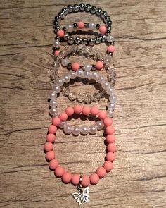 Diy Bracelets Patterns, Cute Bracelets, Beaded Bracelets, Bead Jewellery, Beaded Jewelry, Handmade Jewelry, Hippie Jewelry, Cute Jewelry, Bracelet Crafts