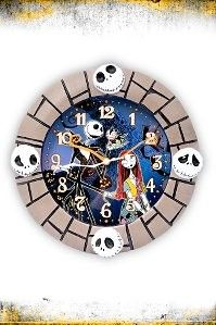 The Nightmare Before Christmas Jack And Sally Wall Clock
