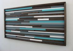 Wall Art Wood Sculpture Painting on Wood Wall by ModernRusticArt, $475.00