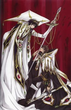 Tags: Anime, CLAMP, Kururugi Suzaku, Lelouch Lamperouge, Scan