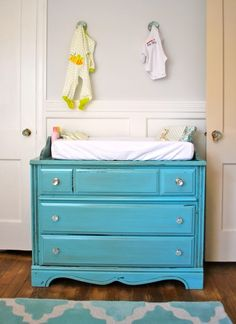 Another Great Dresser, Doubling As A Changing Table. Iu0027ll Take Either Aqua
