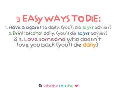 3 easy ways to die