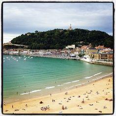 Lovely San Sebastian, Spain.