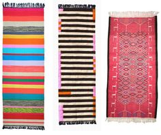Kilim rug  love the stripes for hallway