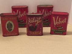 Collectible Antique Velvet Pipe Cigarette Tobacco Prince Albert Tins Lot of 5 in Collectibles, Tobacciana, Tins | eBay
