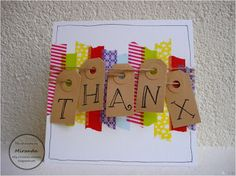 Miranda's Creaties - Thema dag Thanx 1 Diy Cards, Washi Tape, Thank You Cards, Scrap, Paper Crafts, Babys, Stamping, Gifts, Craft Ideas