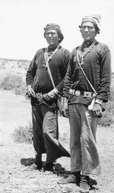 """""""Grey Eyes and Chee Singing Navajo Love Songs"""" Gallup, New Mexico  Photographer: J.R. Willis Date: 1920? Negative Number 042311"""