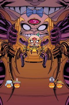 "SECRET AVENGERS #8 ALES KOT (W) MICHAEL WALSH (A) Cover by TRADD MOORE ""M.O.D.O.K. SUPREME EXTRAVAGANZA"""