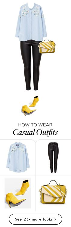 """Chic Casual"" by stevie-pumpkin on Polyvore featuring JDY, MANGO and Topshop"
