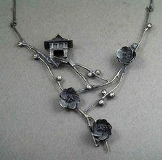 "Necklace   Rebecca Fargher. ""Oriental"". Silver"