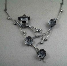 "Necklace | Rebecca Fargher. ""Oriental"". Silver"