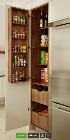 cabinet for spices, oils, vinegars, onions, garlic, etc