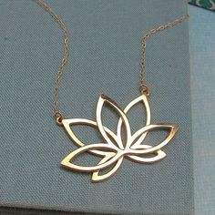 Lotus Necklace in sterling silver or gold plate yoga necklace by Lala jewelry Cute Jewelry, Metal Jewelry, Silver Jewelry, Jewelry Accessories, Jewelry Necklaces, Jewelry Design, Fancy Jewellery, Silver Ring, Lotus Necklace
