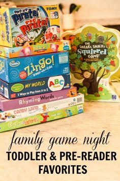 Family Game Night Favorites for Toddlers and Pre-Readers