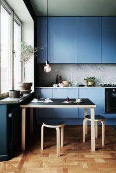Cocinas azules