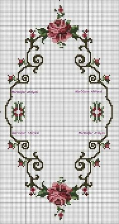 This post was discovered by ne Cross Stitch Rose, Cross Stitch Borders, Cross Stitch Flowers, Cross Stitch Charts, Cross Stitch Designs, Cross Stitching, Cross Stitch Patterns, Ribbon Embroidery, Cross Stitch Embroidery