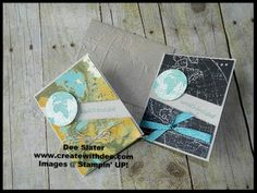 Going Global and Going Places products from Stampin' UP! to create these Father's Day cards! Happy Crafting!~ Dee