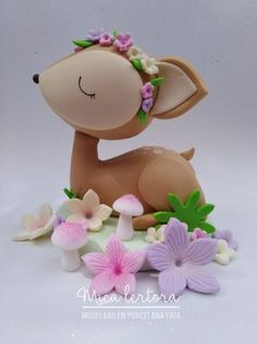 Cute Polymer Clay, Cute Clay, Polymer Clay Crafts, Diy Clay, Fondant Cake Toppers, Fondant Figures, Fondant Animals, Clay Animals, Woodland Theme Cake