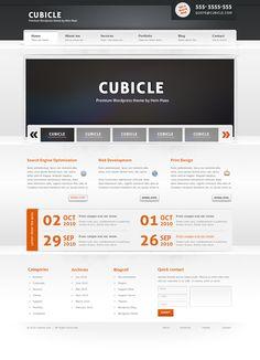 Cubicle – Free PSD Theme