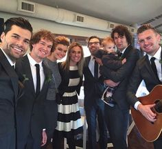Joel, Ben, Libby, Rebecca, Josh, Luke and Phoenix and Seth from Skillet