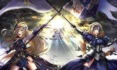 Anime Crossover  Fate/Apocrypha Granblue Fantasy Jeanne D'Arc Jeanne D'arc (Granblue Fantasy) Ruler (Fate/Apocrypha) Wallpaper