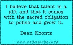 Quotable – Dean Koontz - Writers Write