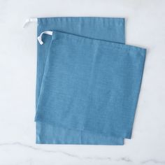 Nordic Blue Linen Bread Bags (Set of 2) on Food52
