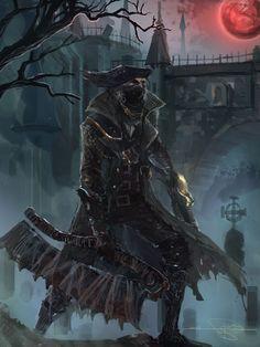 Bloodborne Concept Art, Bloodborne Art, Bloodborne Characters, Fantasy Characters, Soul Saga, Arte Dark Souls, Old Blood, Arte Obscura, Gothic Horror