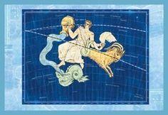 Art Print Capricorn And Aquarius #1 New DB-32757
