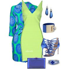 """lime"" by gaitriesharda on Polyvore Love these color but again, I will need different shoes."