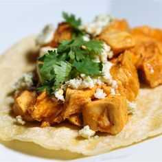 """Buffalo Chicken Tacos 