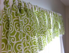 No Sew Curtain Topper--basically long pieces of fabric fringe