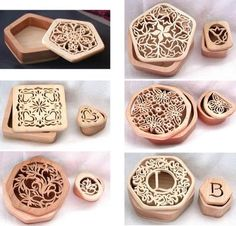 STBSET1 - Set of All Swivel-Top Box Scroll Saw Patterns STB01 to STB06