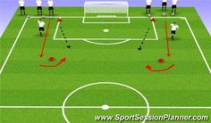 Football/Soccer Session Plan Drill (Colour): Pass and Shoot Best Picture For Soccer Workouts fitness Soccer Shooting Drills, Football Coaching Drills, Soccer Training Drills, Soccer Workouts, Soccer Drills, Volleyball Tips, Soccer Tips, Golf Tips, Youth Soccer
