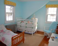 I like the idea of pale blue walls...    Google Image Result for http://st.houzz.com/simages/45199_0_15-1000-eclectic-kids.jpg