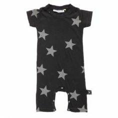Nununu Star Playsuit - Black