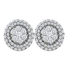 1 1/2CTW-Diamond FLOWER EARRING