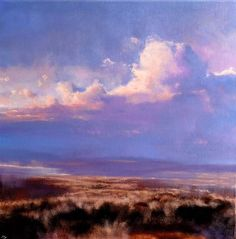 John O'Grady Art - You are Everything III - a landscape painting with a large cumulus cloud above the bogland #landscapepainting