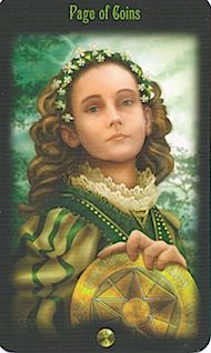 Princess of Pentacles: look out there and see what more you can accomplish!