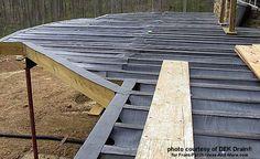 Dek drain material laid over deck joists
