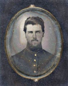 Extraordinarily handsome bearded young man, Civil War soldier in uniform, antique Victorian era photo. Victorian Men, Victorian Photos, Antique Photos, Vintage Pictures, Vintage Photographs, Old Pictures, Old Photos, American Civil War, American History
