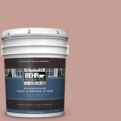 BEHR Premium Plus Ultra 5-gal. #S170-4 Retro Pink Satin Enamel Exterior Paint