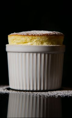 This Meyer lemon soufflé is a perfectly puffy dessert.