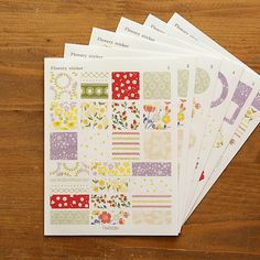 Sticker Set : Flowery - 6pk – Dailylike Australia