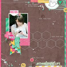 Currently by Traci Reed Life is Tweet freebies from the SSD Designers Stitched Hexagons by Erica Zane Based on a template by Megan Turnbridge  Created for the Sweet Shoppe Summer Shadowbox contest - come join the digital scrapbooking fun at SweetShoppeDesigns.com  17th August Option 1
