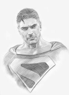 Alex Ross- Brandon Routh Kingdom Come- Sketch Original Comic Art - W. Comic Book Artists, Comic Books Art, Comic Art, Batman Dark, Batman 2, Superman Art, Punisher Marvel, Comic Manga, Superman Wonder Woman